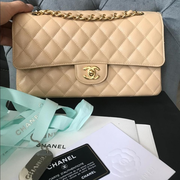 CHANEL Handbags - Chanel Caviar Medium Classic Double Flap NEW Bag